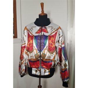 Jackets & Blazers - Funky Vintage Reversible Windbreaker